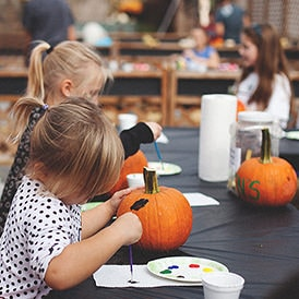 Autumn Harvest Festival Pumpkin Painting